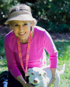 Rose Connolly, Citrus Heights w/white dog